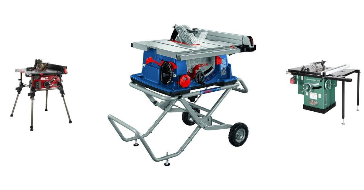 List of Top 5 Best Table Saw For Beginners